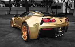 Chevrolet Corvette nổi bật nhất phố với lớp wrap vàng bóng, mâm Forgiato đồng màu khổng lồ