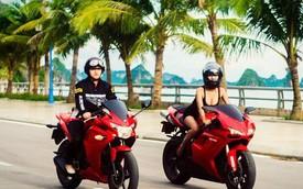 """Những hot girl 9x """"nên duyên"""" với xe môtô"""