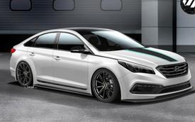 "Hyundai Sonata 2015 độ ""wide body kit"" lộ diện"