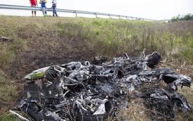 Lamborghini Huracan đầu tiên gặp nạn, cháy thành tro
