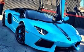 Chán màu cũ, Chris Brown đổi màu siêu xe Lamborghini Aventador