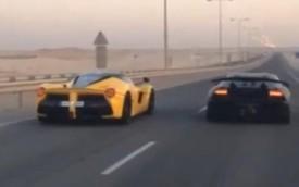 """Ferrari LaFerrari """"ngửi khói"""" Lamborghini Sesto Elemento"""