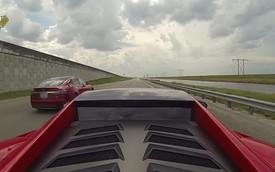 """Tesla Model S đánh bại loạt xe """"khủng"""" trên đường đua"""