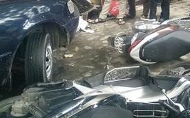 Xế hộp tông hàng loạt ô tô, xe máy