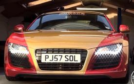 Siêu xe Audi R8 phong cách Iron Man bất ngờ xuất hiện ở Anh