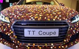 Phát thèm với xe thể thao Audi TT đính 27.000 viên sô-cô-la