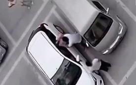 Cô gái bị 2 người đàn ông tát liên tiếp vì đỗ xe sai chỗ