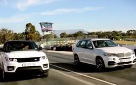 BMW X5 đua tốc độ với Range Rover Sport
