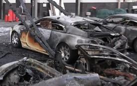 Hàng tá xe Rolls-Royce và Bentley của cùng một chủ bị cháy rụi