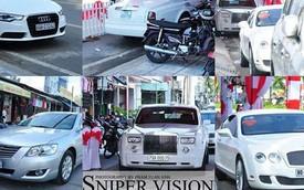 Dàn xe sang tiền tỷ trong đám cưới tại Cà Mau