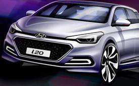 Hình ảnh phác họa chính thức của Hyundai i20 thế hệ mới