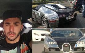 Danh thủ Karim Benzema lái siêu xe Bugatti Veyron đến sân tập