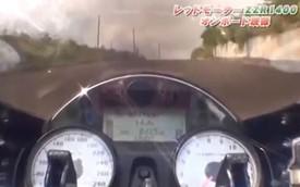 Xem siêu môtô Kawasaki ZZR1400 tăng tốc từ 0-305 km/h