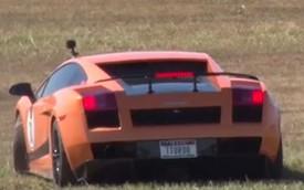 Xem cảnh siêu xe Lamborghini Gallardo mất lái ở 240 km/h
