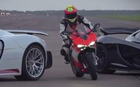 Ducati 1199 Superleggera so tốc độ với bộ đôi siêu xe