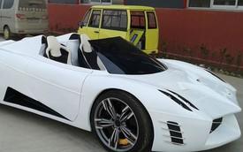 Siêu xe Pagani Huayra mui trần tự chế của tín đồ Trung Quốc