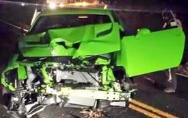 """""""Siêu cơ bắp"""" Dodge Challenger Hellcat tử nạn ngay sau khi về tay chủ"""