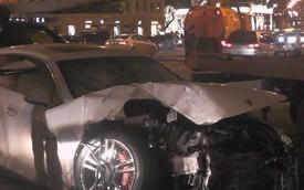 Xe Porsche đua với BMW ở 120 km/h và gây tai nạn liên hoàn