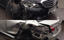 """Hà Nội: Mercedes-Benz E400 """"hạ gục"""" Toyota Camry"""