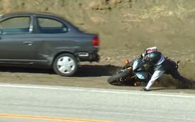"""Yamaha R6 gặp nạn tại khúc cua """"tử thần"""""""
