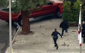Ăn trộm xe BMW, chạy trốn cảnh sát bằng… ván trượt