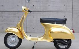 Phát thèm với xe Vespa Primavera 125 bọc vàng 23K