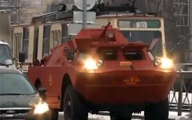 Xe chỉ huy và trinh sát bọc thép được trưng dụng làm taxi