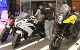 Dàn xế nổ hùng hậu trước giờ khai mạc triển lãm môtô Indonesia