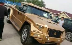 Đại gia Trung Quốc chơi xe bọc thép mạ vàng Dartz Kombat