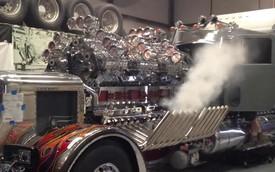 """""""Tiếng gầm"""" của khối động cơ 24 xi-lanh và 12 bộ tăng áp khí nén"""