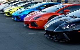 Đã mắt với dàn Lamborghini Aventador cực đẹp tại sự kiện họp mặt