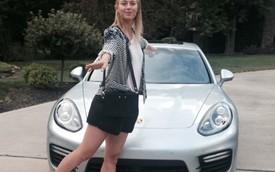 """Maria Sharapova: Không thể """"nhẹ chân ga"""" khi lái Panamera Turbo"""