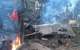 Cận cảnh hiện trường tai nạn trực thăng rơi tại Thạch Thất