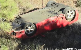Ferrari 360 lao dốc và hỏng nặng