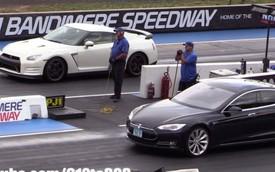 """Tesla Model S """"đấu"""" Nissan GT-R: Ai nhanh hơn?"""