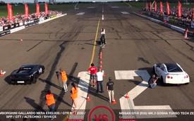 "Nissan GT-R 1.600 mã lực ""quật ngã"" Lamborghini Gallardo 2.000 mã lực"