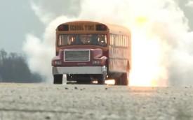 Xe bus đạt vận tốc gần 600 km/h nhờ trang bị động cơ phản lực