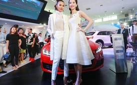 Thanh Hằng, Đặng Thu Thảo trắng tinh khôi bên dàn xe Audi