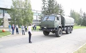 Hãng xe Nga thử nghiệm xe tải quân sự không người lái Kamaz