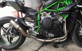 Siêu mô tô tiền tỷ Kawasaki H2 tại Việt Nam lên ống xả độ Racefit nẹt pô khạc lửa