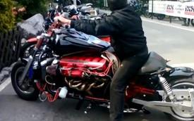 Choáng với môtô tự chế trang bị động cơ V12 của siêu xe