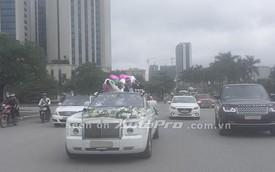 Rolls-Royce Phantom Drophead Coupe làm xe rước dâu ở Hà Nội