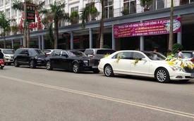 Bộ đôi xe siêu sang trị giá 40 tỷ Đồng trong đám cưới tại Thái Nguyên