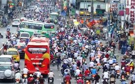 TPHCM muốn xén vỉa hè để giảm ùn tắc giao thông