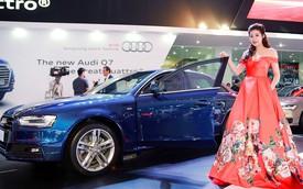 Á hậu Dương Tú Anh khoe nhan sắc lộng lẫy bên Audi A4