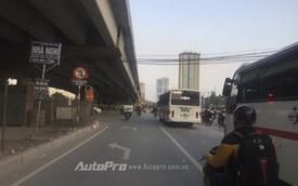 Lưu ý biển cấm ô tô rẽ trái trên tuyến đường Nguyễn Xiển - Nghiêm Xuân Yêm
