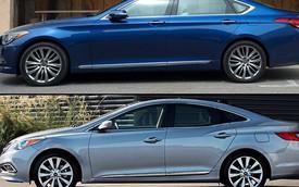 Hyundai lặng lẽ giới thiệu cặp đôi Genesis Sedan và Azera 2016