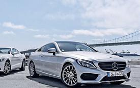 Mercedes-Benz C-Class Coupe 2016 bất ngờ lộ diện trần trụi
