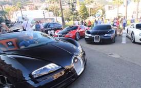 Bắt gặp 4 chiếc Bugatti Veyron một lúc tại thiên đường siêu xe