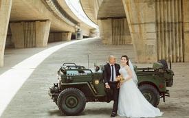 Bộ ảnh cưới độc đáo bên xe Jeep Willys của cặp đôi Hà thành